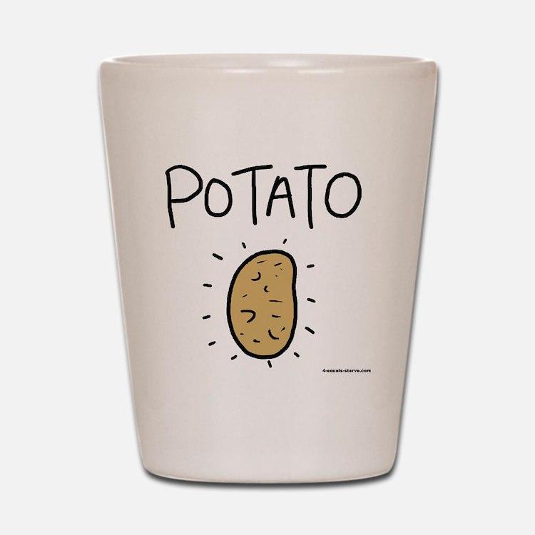 Kims Potato shirt Shot Glass