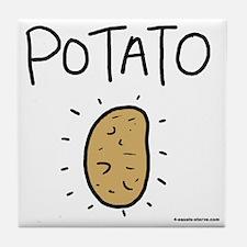 Kims Potato shirt Tile Coaster
