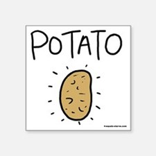 "Kims Potato shirt Square Sticker 3"" x 3"""