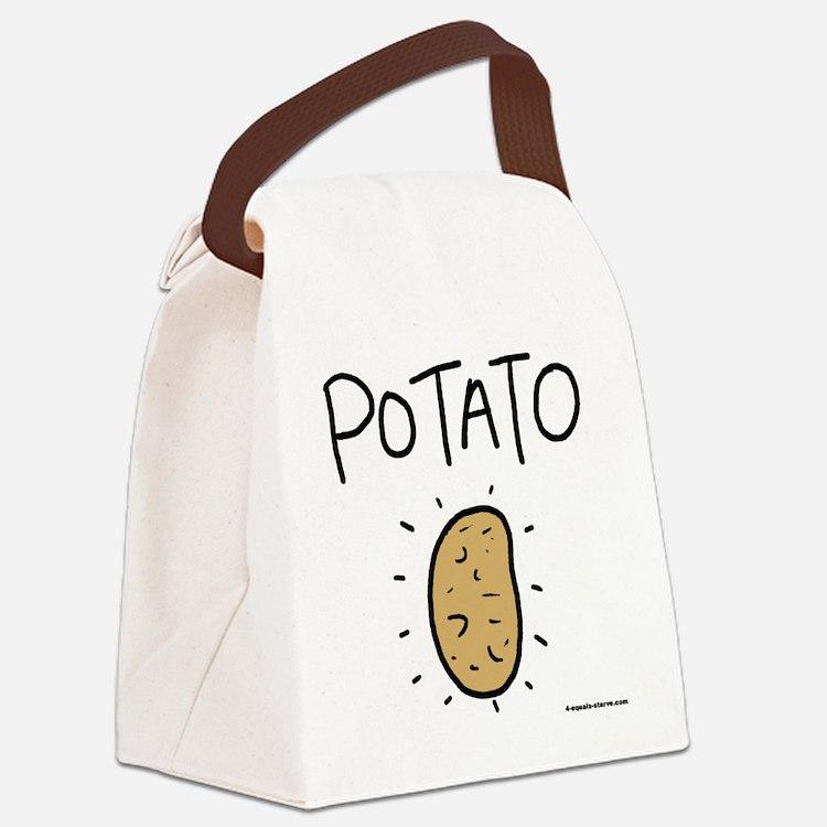 Kims Potato shirt Canvas Lunch Bag