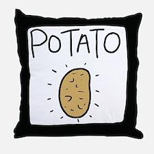 Kims Potato shirt Throw Pillow
