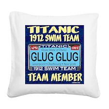 titanicGlugInProd-3 Square Canvas Pillow