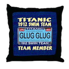 TitanicGlugClock15.35x15.35 Throw Pillow