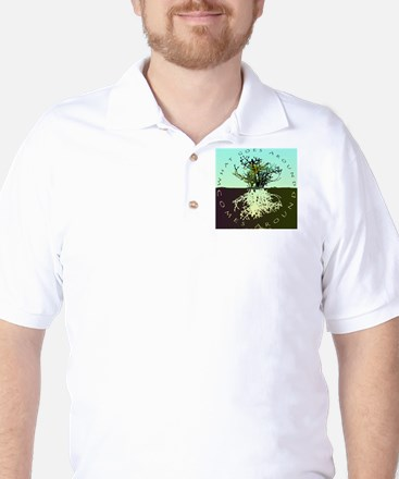 what goes around flat Golf Shirt