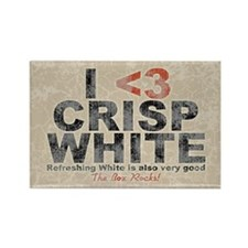 crisp-white-OV Rectangle Magnet