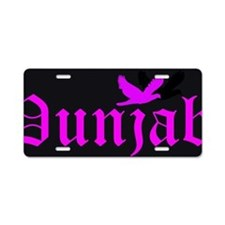 Black Back Pink (BBP) Aluminum License Plate