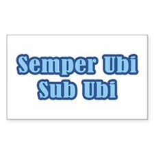 Semper Ubi Sub Ubi Rectangle Decal