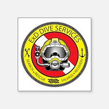 """ExD Dive Logo Square Sticker 3"""" x 3"""""""