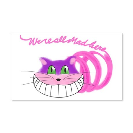 Cheshire Cat Were all Mad 20x12 Wall Decal