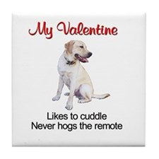 Labrador Valentine2 Tile Coaster