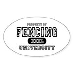 Fencing University Oval Sticker