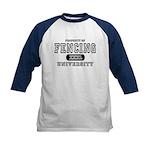 Fencing University Kids Baseball Jersey