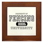 Fencing University Framed Tile
