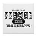 Fencing University Tile Coaster