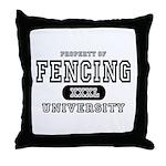 Fencing University Throw Pillow