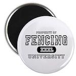 Fencing University Magnet
