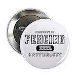 Fencing University Button