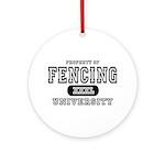 Fencing University Ornament (Round)
