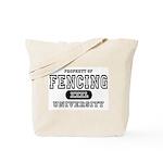 Fencing University Tote Bag