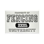 Fencing University Rectangle Magnet