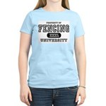 Fencing University Women's Pink T-Shirt