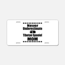 Tibetan Spaniel Mom Aluminum License Plate