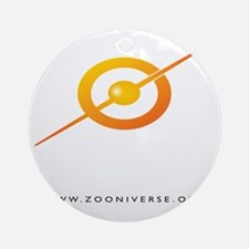 ZOONIVERSE shirt back WHITE Round Ornament