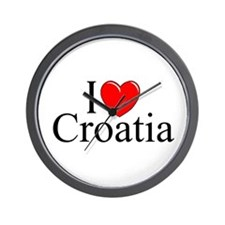 """I Love Croatia"" Wall Clock"