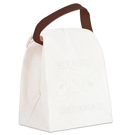 Curlibbean White Canvas Lunch Bag