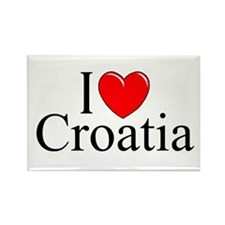 """I Love Croatia"" Rectangle Magnet"