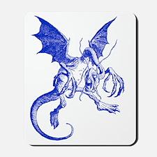Jabberwocky Blue Mousepad