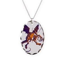 Jabberwocky Purple Orange Necklace