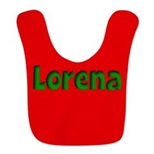 Lorena Red and Green Bib