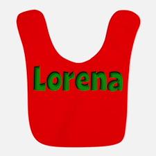 Lorena Red and Green Bib