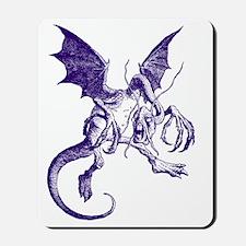 Jabberwocky Purple Mousepad