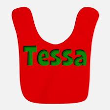 Tessa Red and Green Bib