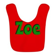 Zoe Red and Green Bib
