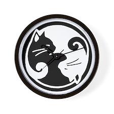 yin-yang-cats Wall Clock