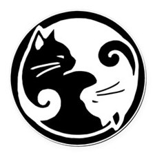 yin-yang-cats Round Car Magnet