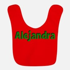 Alejandra Red and Green Bib