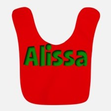 Alissa Red and Green Bib