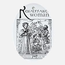 ren_woman Oval Ornament