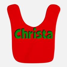 Christa Red and Green Bib