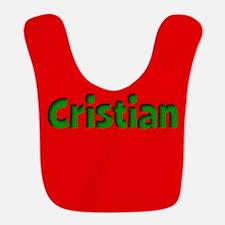 Cristian Red and Green Bib