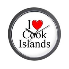"""I Love Cook Islands"" Wall Clock"