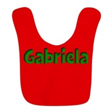 Gabriela Red and Green Bib