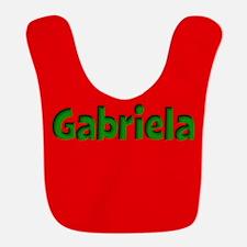 Gabriela Red and Green Bib