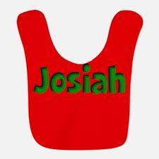 Josiah Red and Green Bib