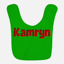 Kamryn Green and Red Bib
