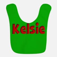 Kelsie Green and Red Bib